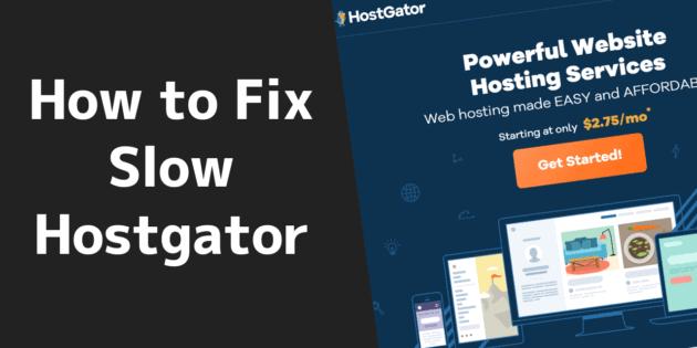 Fix Slow Wordpress
