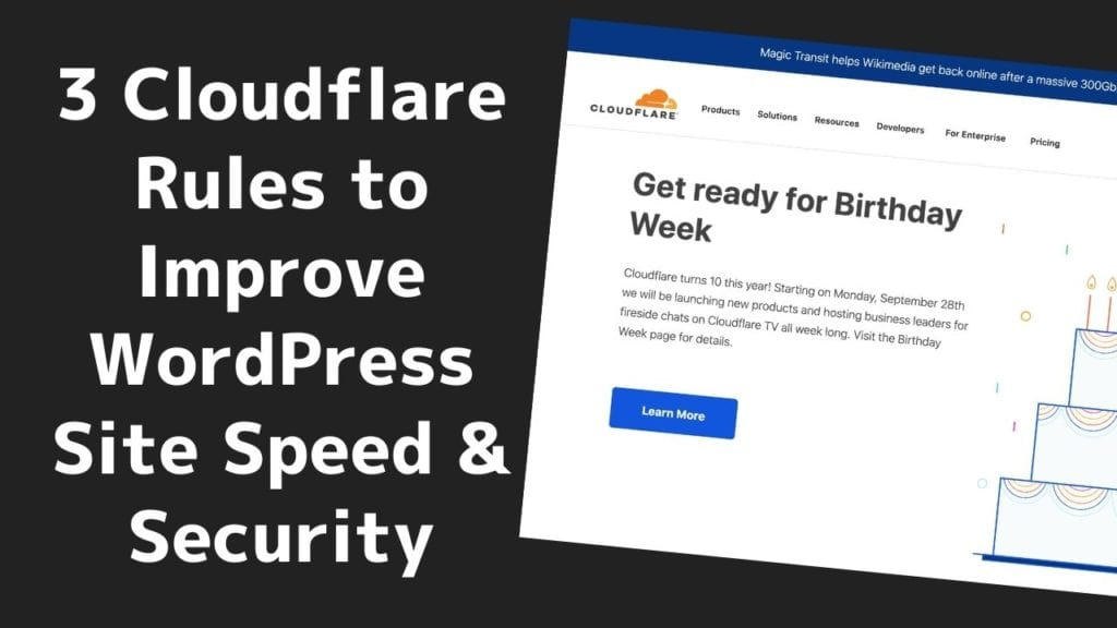 3 Cloudflare Rules to Improve WordPress Site Speed & Security 3