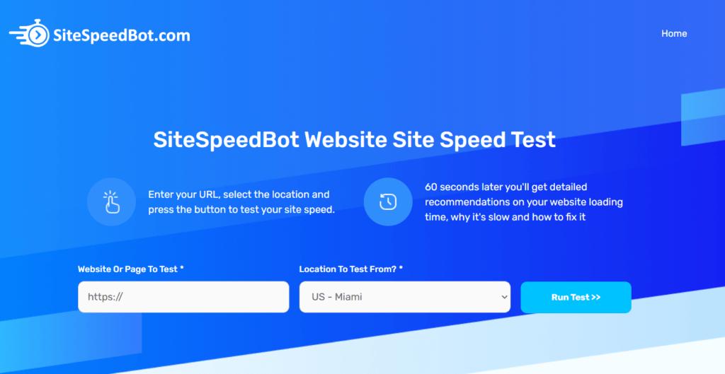Site Speed Bot