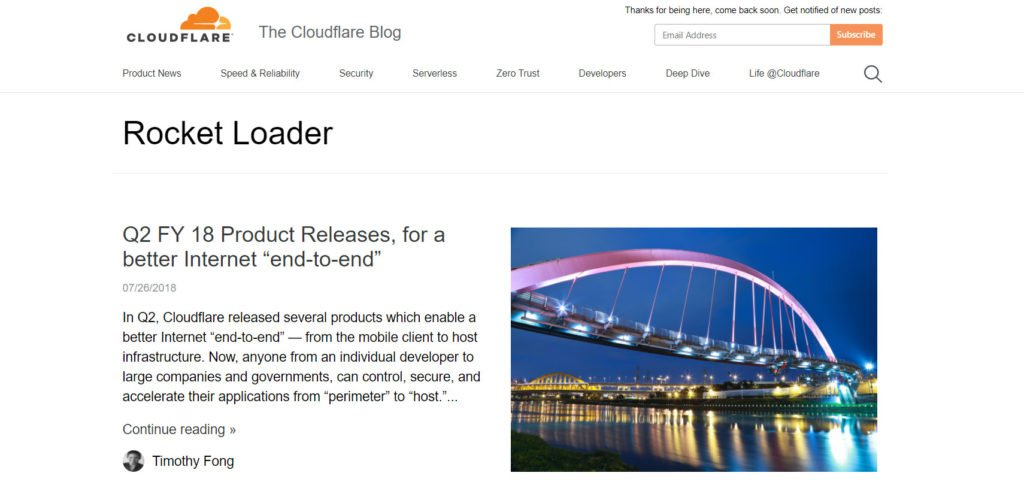 Cloudflare rocket loader
