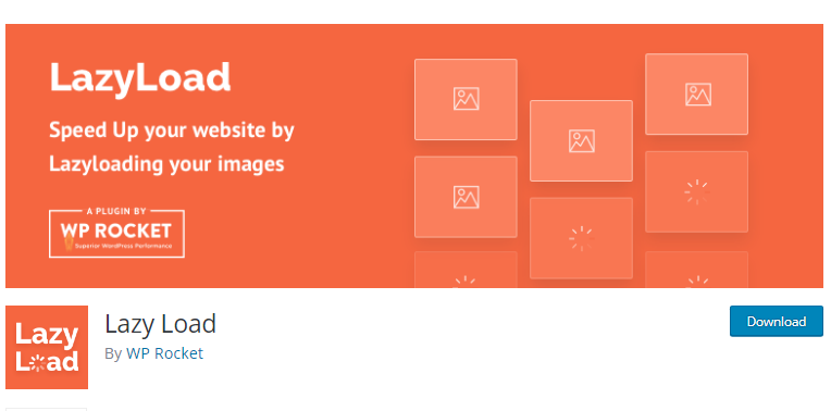 LazyLoad's landing page