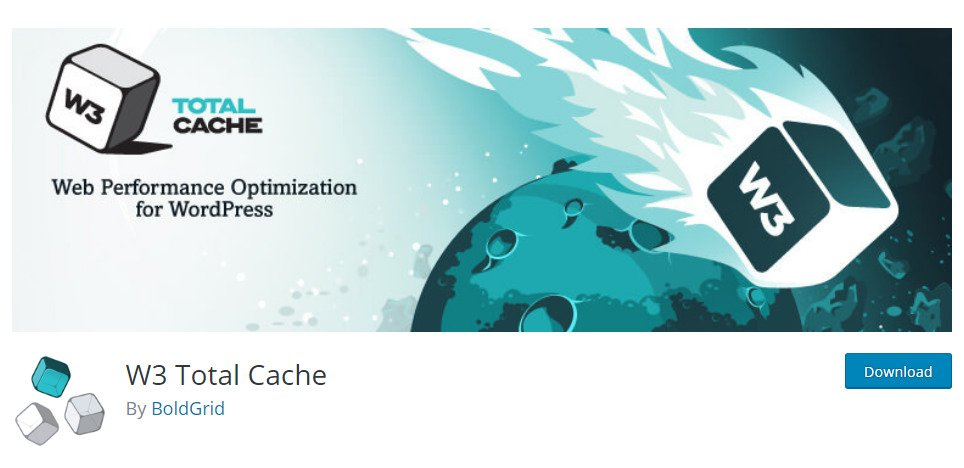 W3 Total Cache's landing page